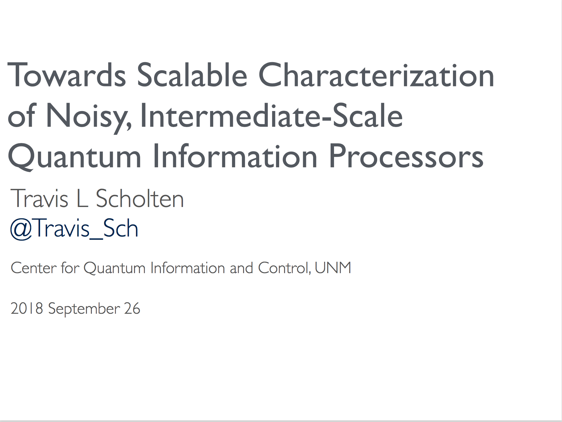 Towards Scalable Characterization of Noisy, Intermediate-Scale Quantum Information Processors